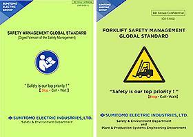 (left) Safety Management Global Standard (right) Forklift Safety Management Global Standard