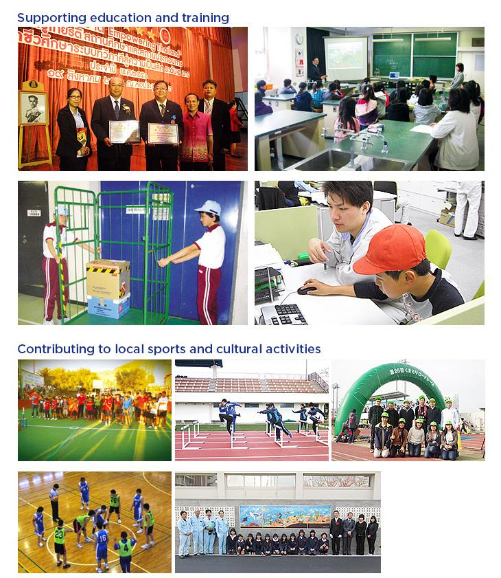 Supporting education and training / Contributing to local sports and cultural activities
